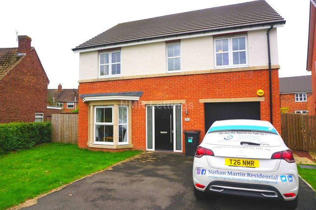 Thumbnail Detached house to rent in High Carr Close, Framwellgate Moor, Durham