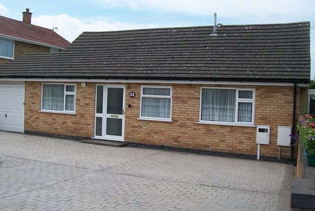 Thumbnail Detached bungalow to rent in Tournament Road, Glenfield, Leicester