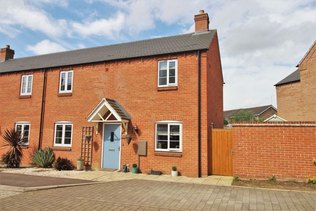 Thumbnail Semi-detached house for sale in Freemans Way, Greens Norton
