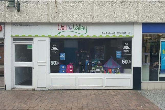 Thumbnail Retail premises to let in 12 Market Square, Merthyr Tydfil
