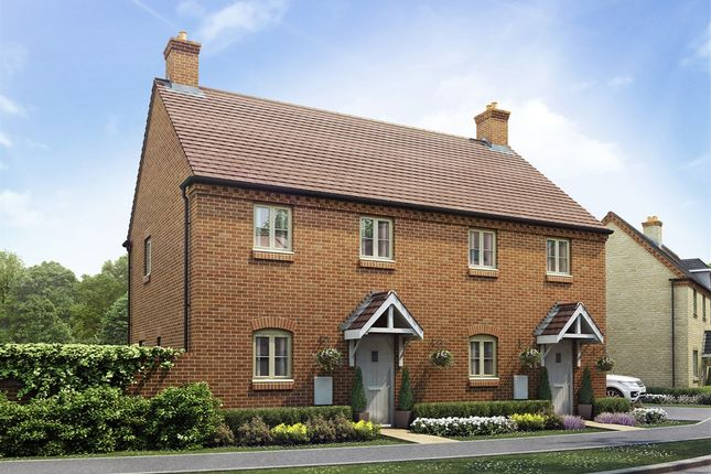 "Thumbnail Semi-detached house for sale in ""The Marston"" at Towcester Road, Old Stratford, Milton Keynes"