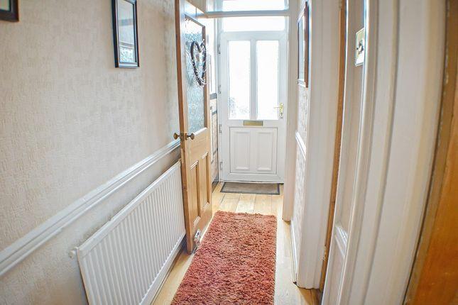Hallway of Evelyn Terrace, Port Talbot, Neath Port Talbot. SA13