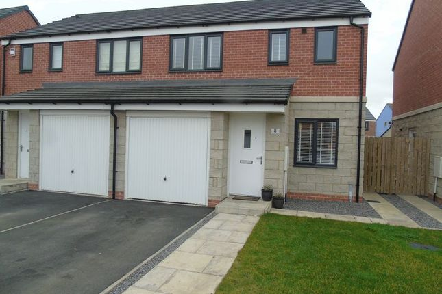 Thumbnail Semi-detached house for sale in St. Hildas Place, Blaydon-On-Tyne
