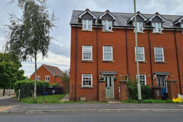 Thumbnail End terrace house to rent in Mercers Close, Tiverton