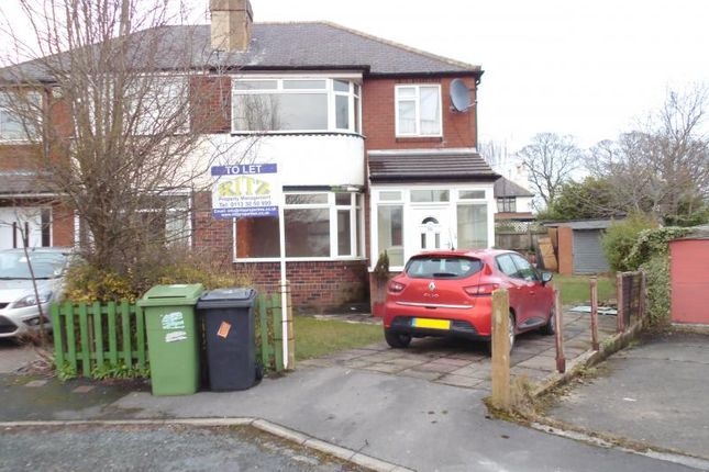 Thumbnail Semi-detached house to rent in Stainburn Gardens, Moortown, Leeds