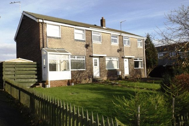 Thumbnail End terrace house for sale in Aln Court, Ellington, Morpeth