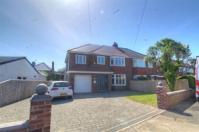 Thumbnail Semi-detached house for sale in Hillcrest, Middle Herrington, Sunderland