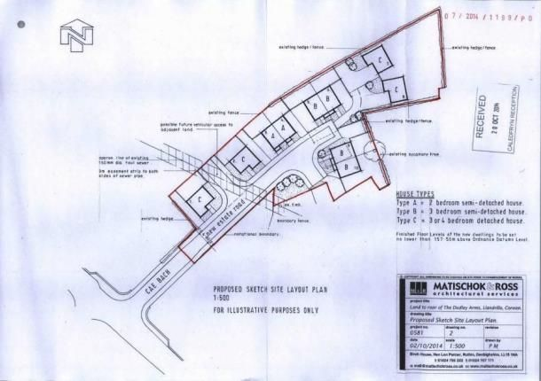 Thumbnail Land for sale in Rear Of Dudley Arms Hotel, Llandrillo, Corwen, Denbighshire