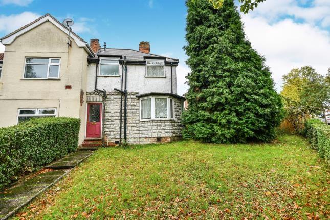 Front of Bleak Hill Road, Erdington, Birmingham, West Midlands B23