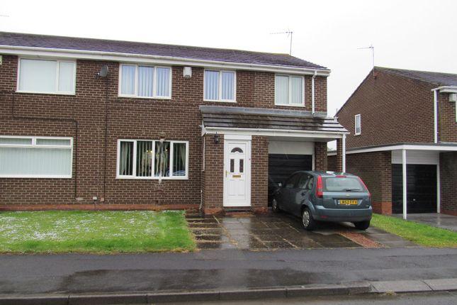 Thumbnail Semi-detached house for sale in Henley Close, Cramlington