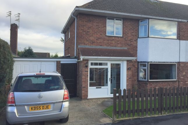 Thumbnail Semi-detached house to rent in Eastway Road, Wigston, Leicester