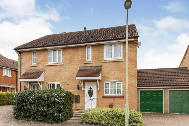 Thumbnail Semi-detached house for sale in Dunnock Close, Stowmarket