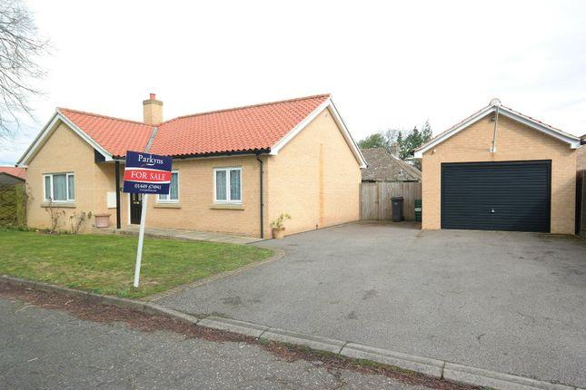 Thumbnail Detached bungalow for sale in Mill Close, Woolpit, Bury St. Edmunds