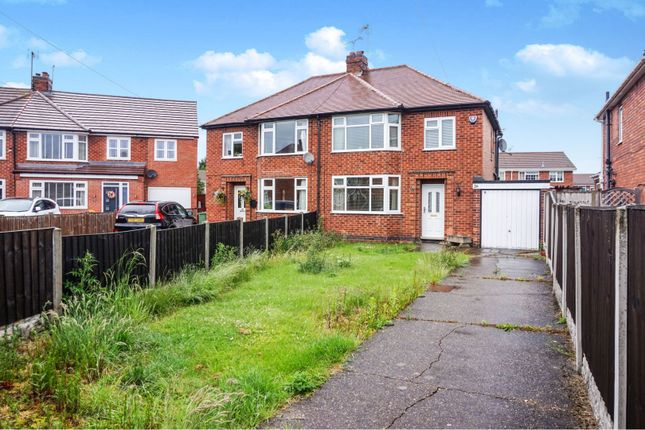 Thumbnail 3 bed semi-detached house for sale in Freeby Avenue, Mansfield