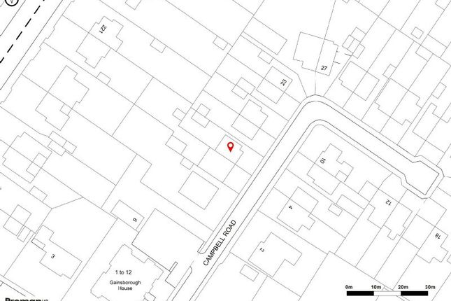 Site Plan of Campbell Road, Sale M33