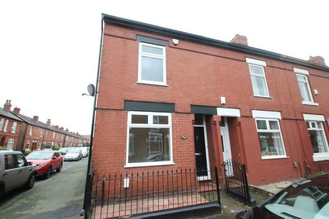 Thumbnail End terrace house to rent in Eaton Road, Sale