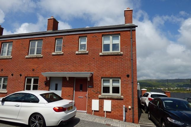 Thumbnail End terrace house for sale in Lon Y Grug, Llandarcy, Neath .