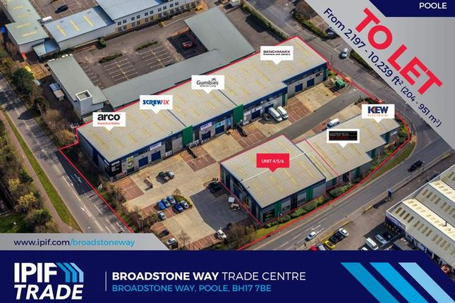 Thumbnail Warehouse to let in Units 4, 5 & 6, Broadstone Way Trade Centre, Poole