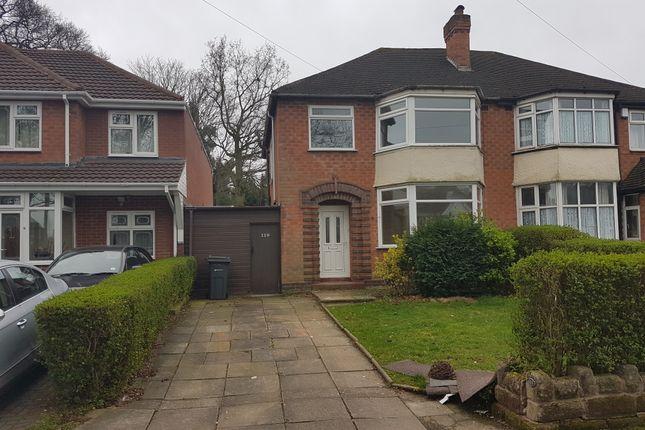 Thumbnail Semi-detached house to rent in Woodlane, Handsworth Wood, Birmingham
