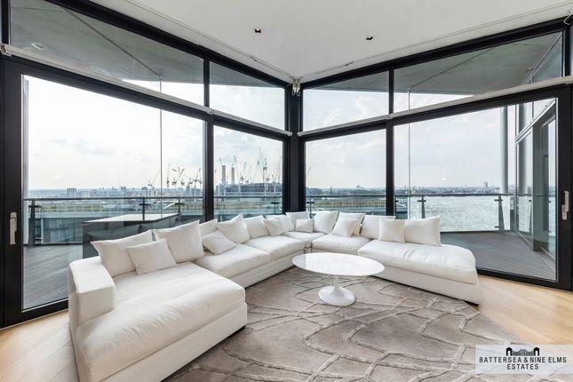 Thumbnail Flat to rent in Riverlight Quay, London