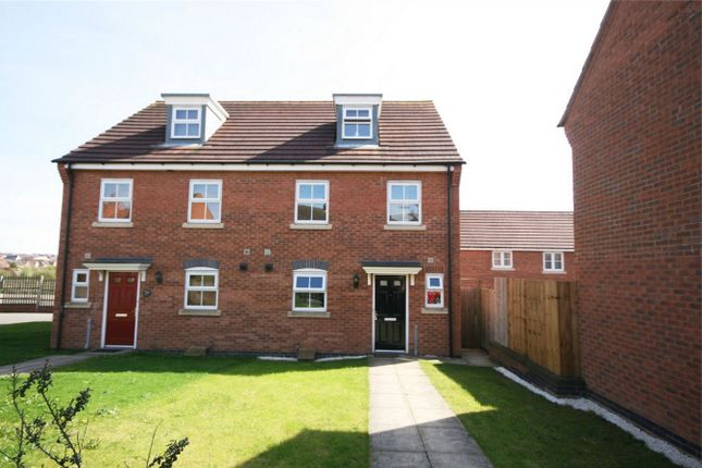 Thumbnail Semi-detached house for sale in Robinson Way, Wootton, Northampton