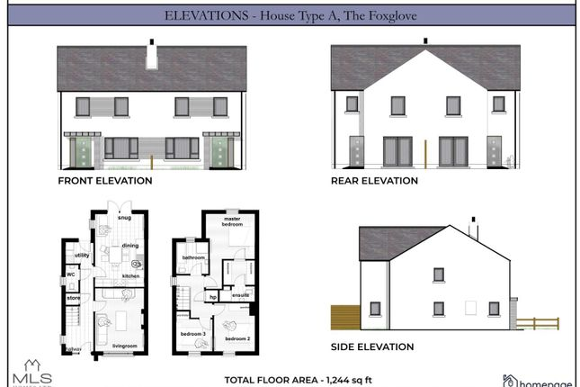 Thumbnail Semi-detached house for sale in The Foxglove, Type A, Carriage Court, Magilligan