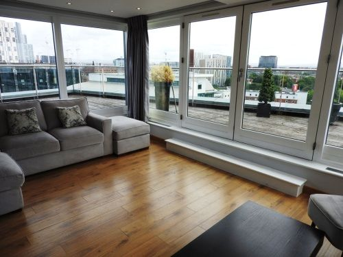 Thumbnail Flat to rent in Lumiere Building, 38 City Road East, Manchester