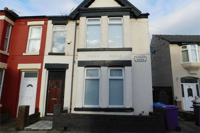 Thumbnail End terrace house to rent in Evered Avenue, Liverpool, Merseyside