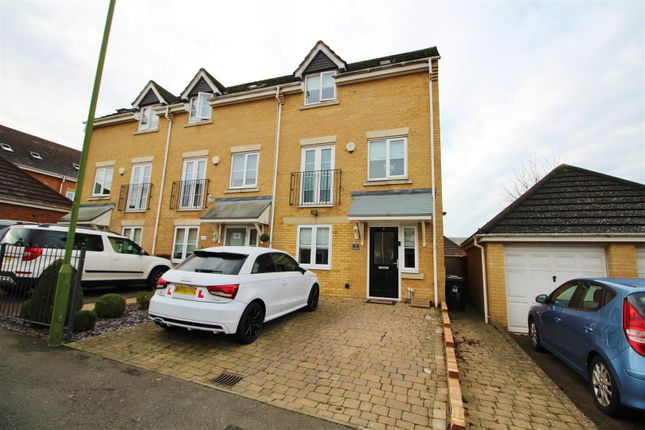 Thumbnail End terrace house to rent in Auden Drive, Elstree, Borehamwood