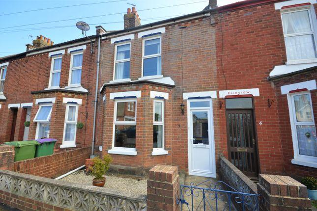 Thumbnail Terraced house for sale in Dunnett Road, Cheriton, Folkestone