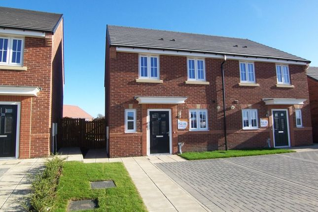Thumbnail Semi-detached house for sale in Merganser Crescent, Barley Meadows, Cramlington