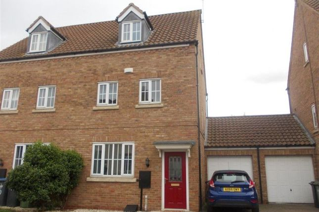Thumbnail Semi-detached house to rent in Crowsfurlong, Rugby