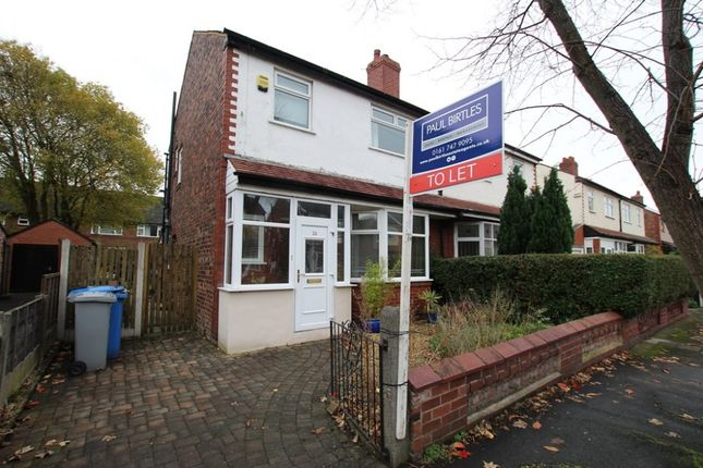 Thumbnail Semi-detached house to rent in Hampson Road, Stretford