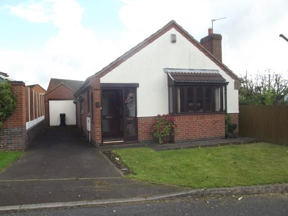 Thumbnail Bungalow for sale in St. Johns Close, Hugglescote, Coalville, Leicestershire