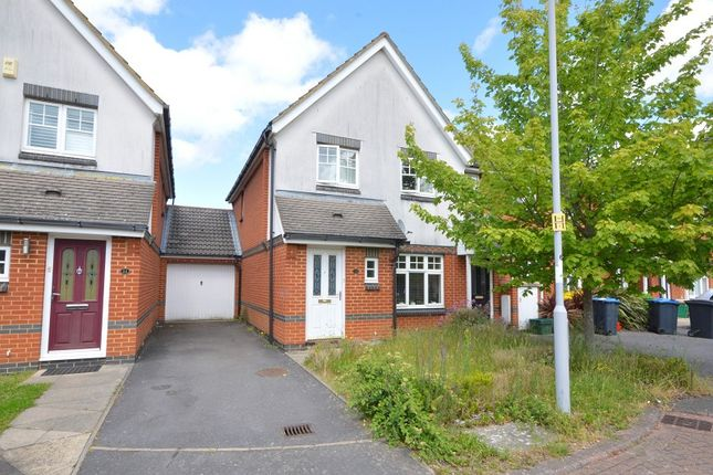 Thumbnail End terrace house for sale in Charles Babbage Close, Chessington, Surrey