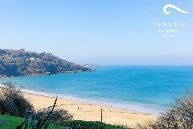 Thumbnail Flat for sale in Carbis Beach Apartments, Carbis Bay, Cornwall