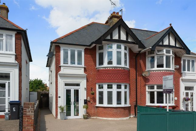 Thumbnail Semi-detached house for sale in Baddlesmere Road, Tankerton, Whitstable, Kent