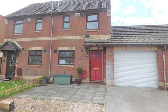 Thumbnail Semi-detached house for sale in St. Davids Close, Brackla, Bridgend, Bridgend County.