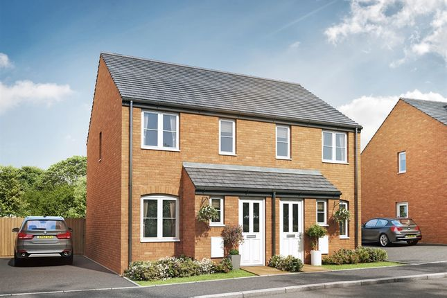 "Thumbnail Semi-detached house for sale in ""The Alnwick"" at Cranford Road, Kettering"