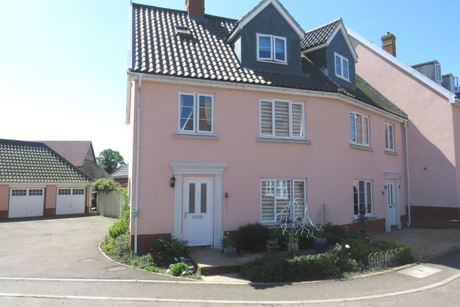 Thumbnail Town house for sale in Crown Meadow, Kenninghall, Norwich