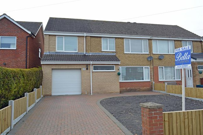 Thumbnail Semi-detached house for sale in Wesley Close, Winterton, Scunthorpe