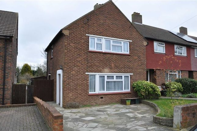 Thumbnail End terrace house to rent in Foxbury Drive, Chelsfield, Orpington