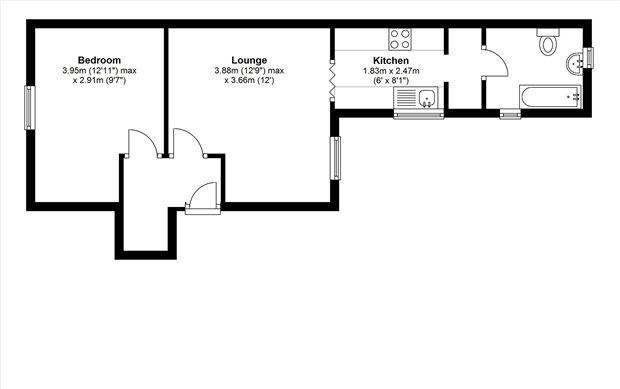 Floor Plan of Schooner Street, Barrow In Furness LA14