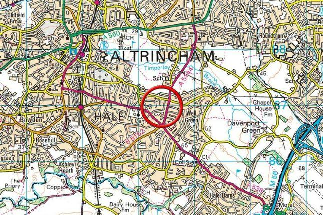 Town Plan of Hillside Road, Hale, Altrincham WA15