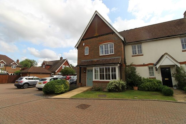 Thumbnail End terrace house for sale in Old Forge Close, Halls Drive, Faygate, Horsham, West Sussex.
