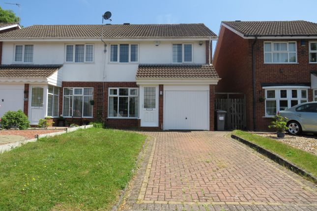 Thumbnail Semi-detached house to rent in Glascote Close, Shirley, Solihull