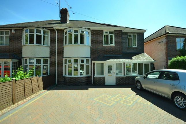 Thumbnail Semi-detached house for sale in Welford Road, Knighton Fields, Leicester