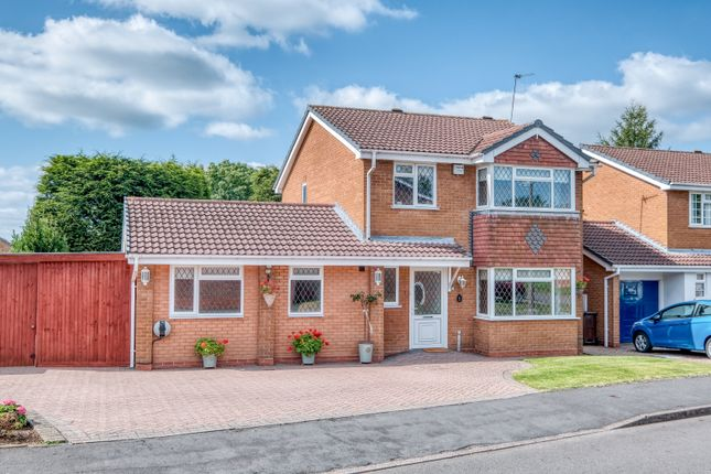 Thumbnail Detached house for sale in Bushley Croft, Hillfield, Solihull