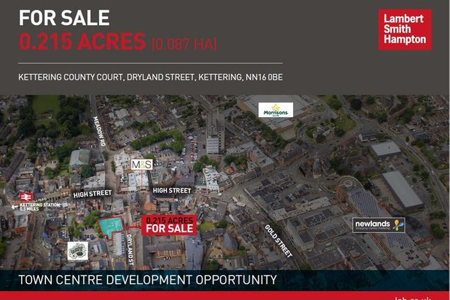 Thumbnail Land for sale in Kettering County Court, Dryland Street, Kettering