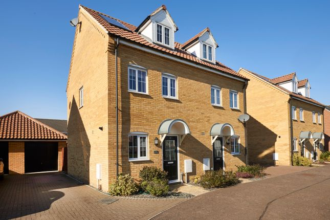 Thumbnail 3 bed semi-detached house for sale in Robin Avenue, Harleston